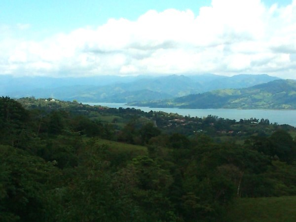 Bird's-Eye View of Arenal- Lake, Town and Volcano!